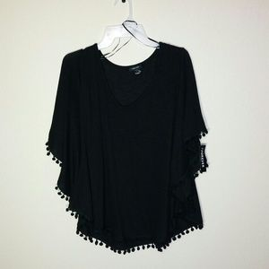 Nwt Black Batwing Blouse
